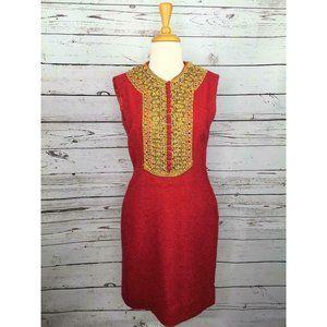 60's Oleg Cassini M (XS)  Red Dress Vintage